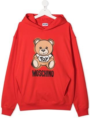 MOSCHINO BAMBINO TEEN Teddy Bear print hoodie