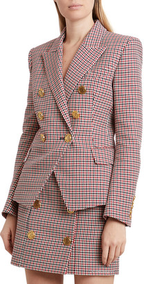 Balmain Houndstooth Double-Breasted Wool Jacket