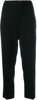 Theory high-waisted cropped trousers