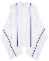 Edun Striped Cotton-poplin Top