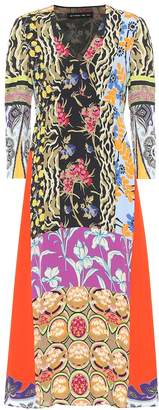 Etro Floral crepe midi dress