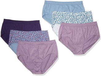 Just My Size Women's Plus Size Cool Comfort Ultra Soft Brief 6-Pack