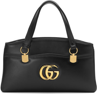 Gucci LargeLeather Top Handle Bag