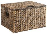 Pier 1 Imports Carson Espresso Wicker Rectangular Lidded Storage Basket