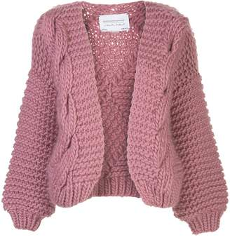 I Love Mr Mittens contrast knit open front cardigan
