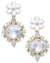 Kate Spade Gold-Tone Multi-Stone Flower Drop Earrings