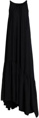 Ann Demeulemeester Asymmetric Ruffled Canvas Gown