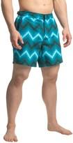 Jachs NY Geometric Chevron Hampton Swim Shorts (For Men)