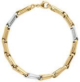 Lord & Taylor 14K Yellow Gold and Rhodium Interlock Bracelet