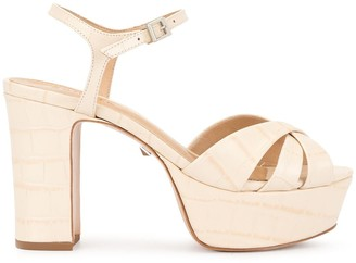 Schutz Croc Platform Sandals
