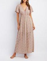 Charlotte Russe Lace V-Neck Maxi Dress