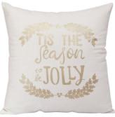 Christmas Shop Décor-43cm Cushion Season Jolly Gold