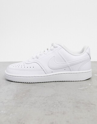 Nike Court Vision low in triple white