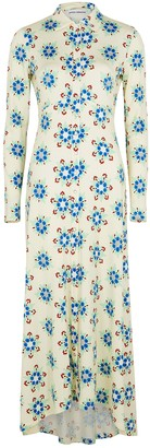 Paco Rabanne Floral-print jersey maxi dress