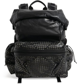 Bottega Veneta Medium Perforated Fold-Top Backpack