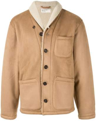 Universal Works faux shearling trimmed jacket
