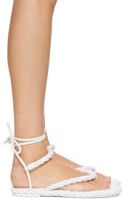 Valentino White Garavani The Rope Flat Sandals