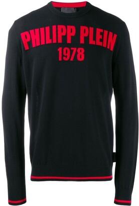 Philipp Plein logo print pullover