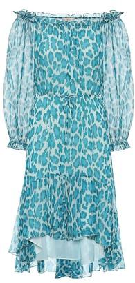 Diane von Furstenberg Camilla leopard-print silk minidress