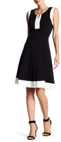 Robbie Bee Textured Knit Fit & Flare Dress