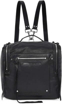 McQ Black Convertible Loveless Box Backpack