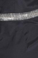 Nicole Miller Embellished Waist Stretch Charmeuse Jumpsuit