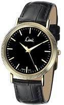 Limit Men's Quartz Watch with Black Dial Analogue Display and Black Polyurethane Strap 5554.02