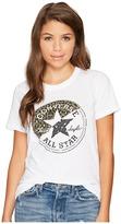 Converse Spliced Leopard Chuck Patch Short Sleeve Crew Tee Women's T Shirt