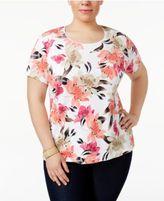Karen Scott Plus Size Printed T-Shirt, Only at Macy's