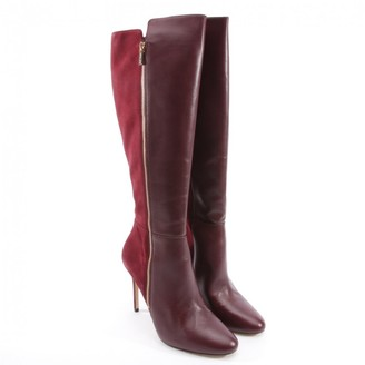 Michael Kors Red Leather Boots