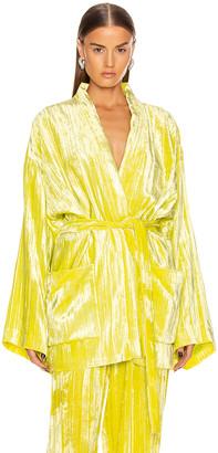 Balenciaga Pajama Jacket in Citrus Yellow | FWRD