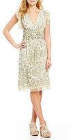 M.S.S.P. Floral Print Georgette A-Line Dress