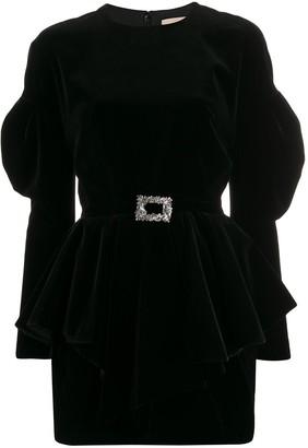 Alexandre Vauthier Puff Sleeve Mini Dress