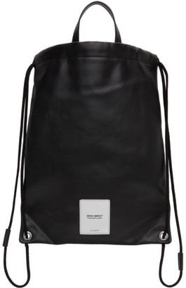 Maison Margiela Black Zero Impact Drawstring Backpack