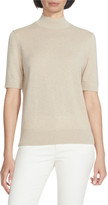 Lafayette 148 New York Mock-Neck Cashmere Sweater with Lurex