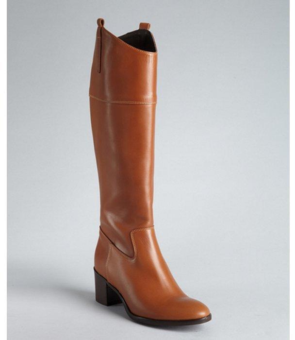 Charles David light brown leather 'Braden' zip side boots