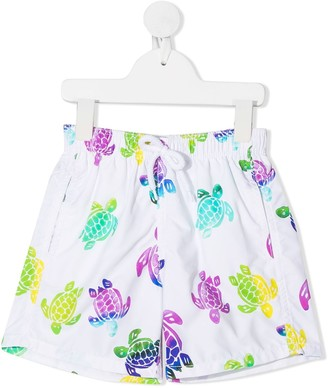 Vilebrequin Kids Turtle Print Swim Shorts