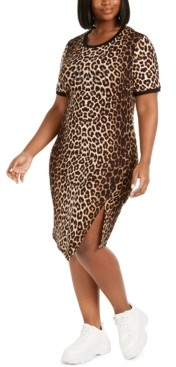 Lala Anthony Trendy Plus Size Statement T-Shirt Dress