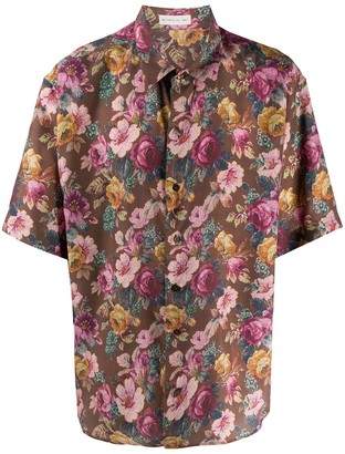 Etro Short Sleeved Floral Print Shirt