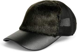 SWEAT ACTIVE Faux Fur Trucker Hat