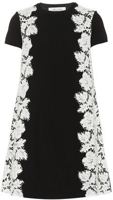 Valentino CrApe and lace minidress