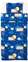 Ikea 402.198.60 Vandring Uggla Duvet Cover and Pillowcase, Twin, Dark Blue