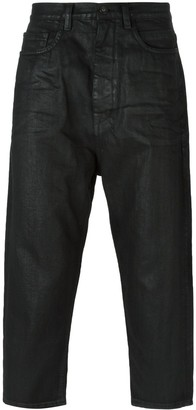 Rick Owens Coated Cropped Jeans