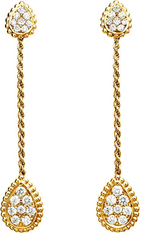 Boucheron Serpent Bohème 18ct yellow-gold and diamond drop earrings