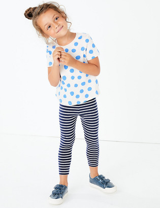 Marks and Spencer Cotton Striped Leggings (3 Mths - 7 Yrs)