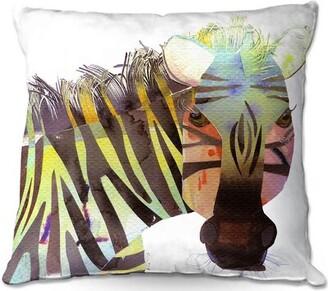 "Riedel Ebern Designs Couch Zebra Throw Pillow Ebern Designs Size: 16"" x 16"""