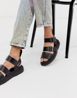 Dr. Martens Gryphon leather sandals in black