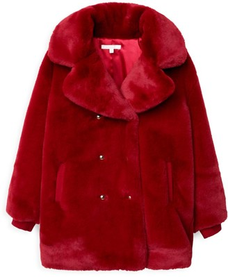 Chloé Little Girl's & Girl's Faux-Fur Double-Breasted Jacket