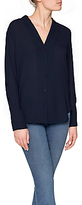 NYDJ Button Through Blouse, Prussian Blue
