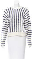Alexander Wang Striped Crochet Sweater